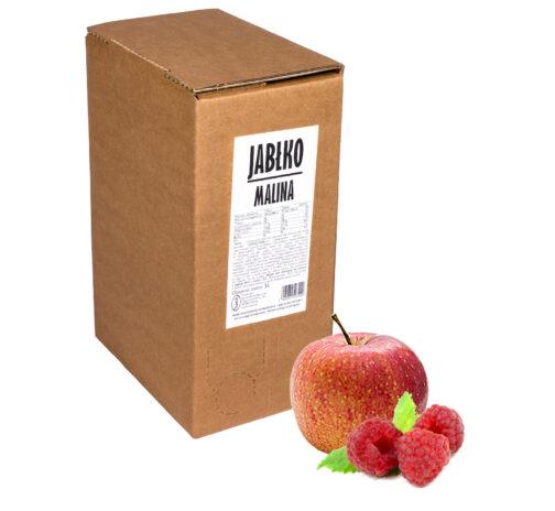 Sok jabłko malina 100% 5L