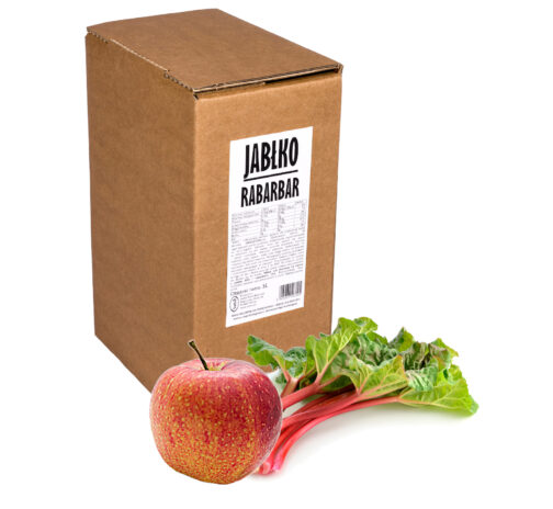 Sok jabłko rabarbar 100% 5L